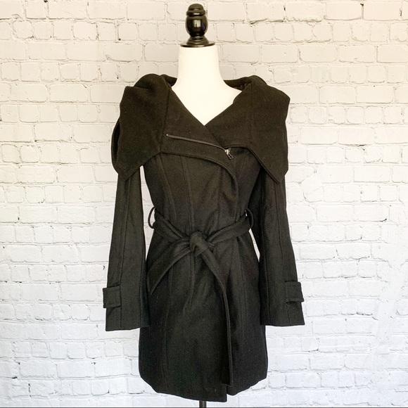 Zara Basic Trench Coat - Midnight Black